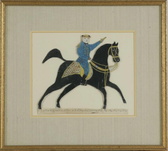 111: Cut Out  of Soldier Riding a Horse, Holding Pistol