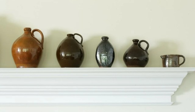 134: A Group of Five Glazed Redware Vessels