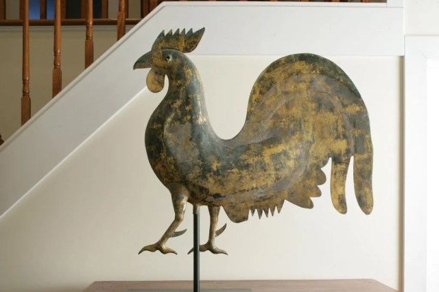 135: Gilt Copper Rooster Weathervane