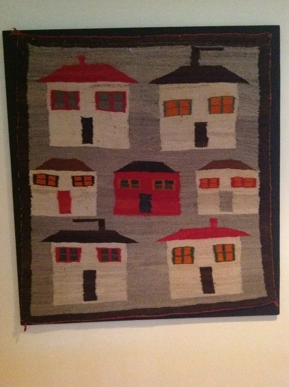 154: Navajo Rug Depicting Seven Houses