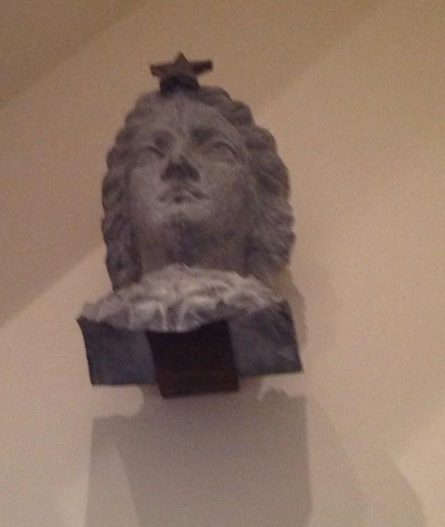 189: Zinc Lady Liberty Head Architectural Element