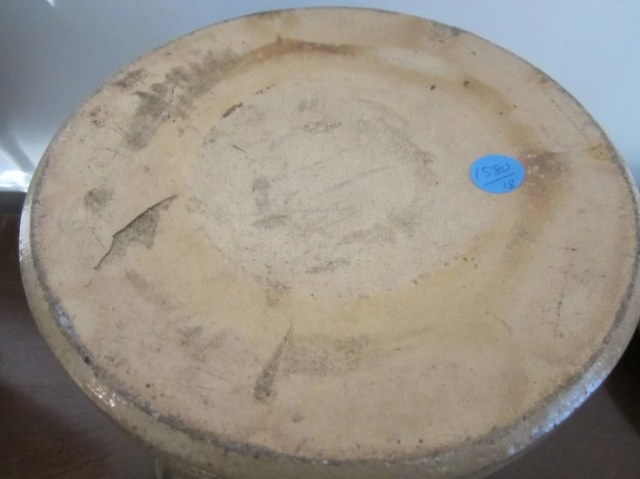 199: Two Slip-Ware Plates and a Stoneware Crock