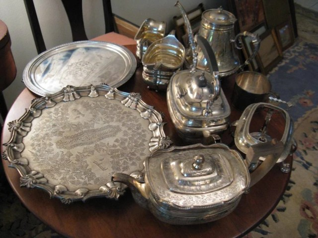 211: Group of Silver Hollow Ware Including Tiffany
