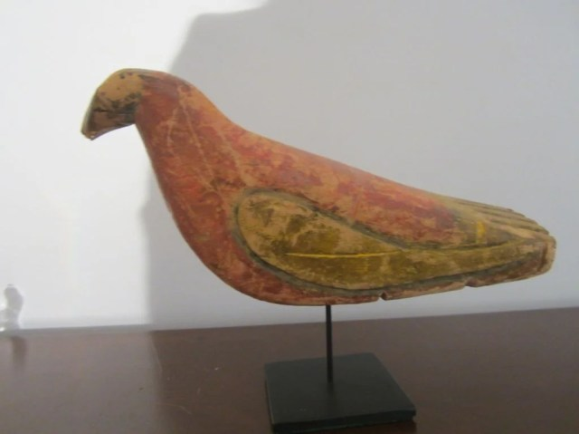 224: A Carved and Painted Wood Rio Grande Parrot