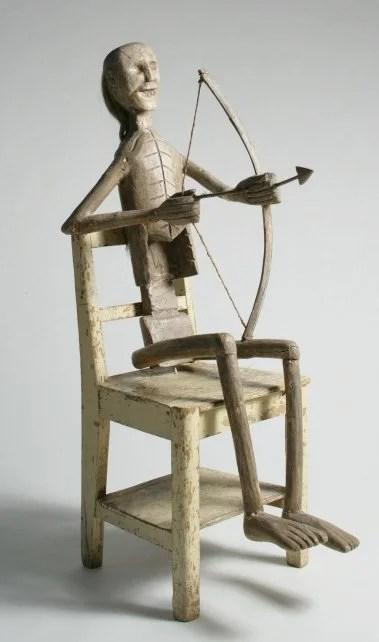 228: New Mexican Folk Art Death Cart Figure