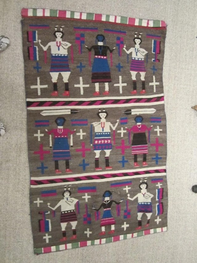 232: A Navajo Figural Rug and Navajo Geometric Rug