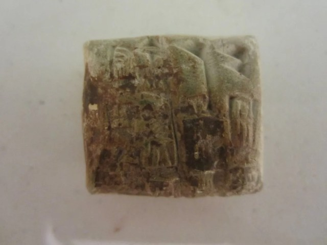 234:Egyptian Stone Scarab and Nine Egyptian objects