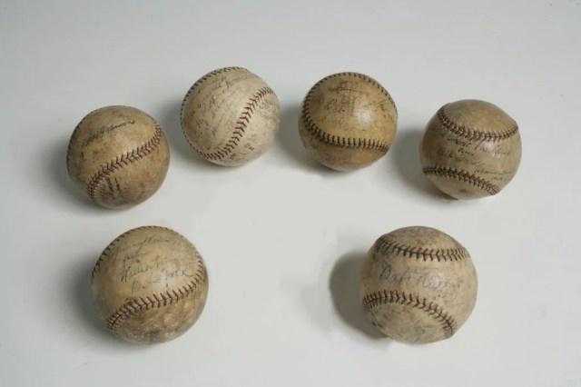 246: Group of Six American League Signed Baseballs