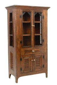 A RUSTIC OAK PIE SAFE CABINET : Lot 253