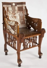 720: Egyptian Revival King Tut Arm Chair : Lot 720