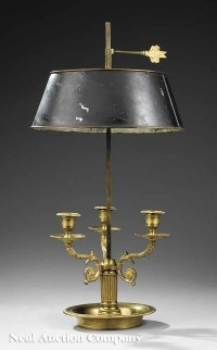 79: Antique French Bouillotte Lamp : Lot 79