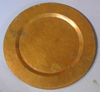 249: Group of 5 Hammered Copper Dinner Plates : Lot 249