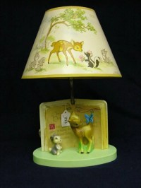 213: WALT DISNEY PRODUCTIONS BAMBI LAMP : Lot 213
