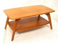 187: HEYWOOD WAKEFIELD Champagne Coffee Table. Arched ...