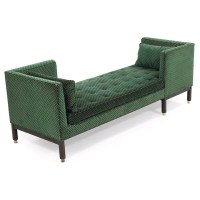 Edward Wormley Tete-a-Tete sofa, by Dunbar, model 5944