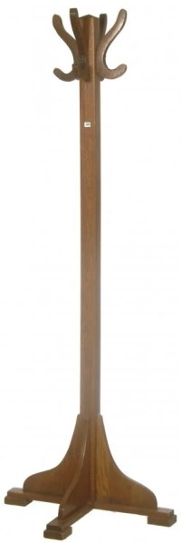 "68"" OAK MISSION STYLE COAT RACK : Lot 481"