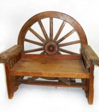 wagon wheel bench - 28 images - wagon wheel benches ...