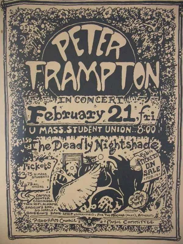 Peter Frampton 1970u0027s Concert Posters Music Posters Pinterest - concert program
