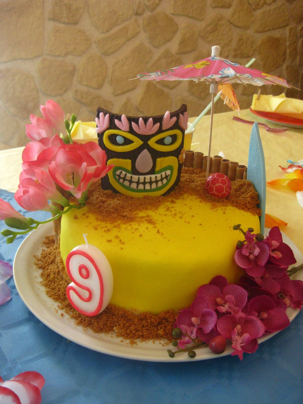 Decoration Anniversaire Hawaii Gateau Deco Hawai