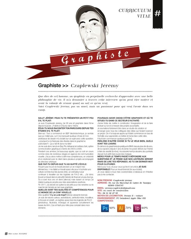 cv graphiste illustrateur