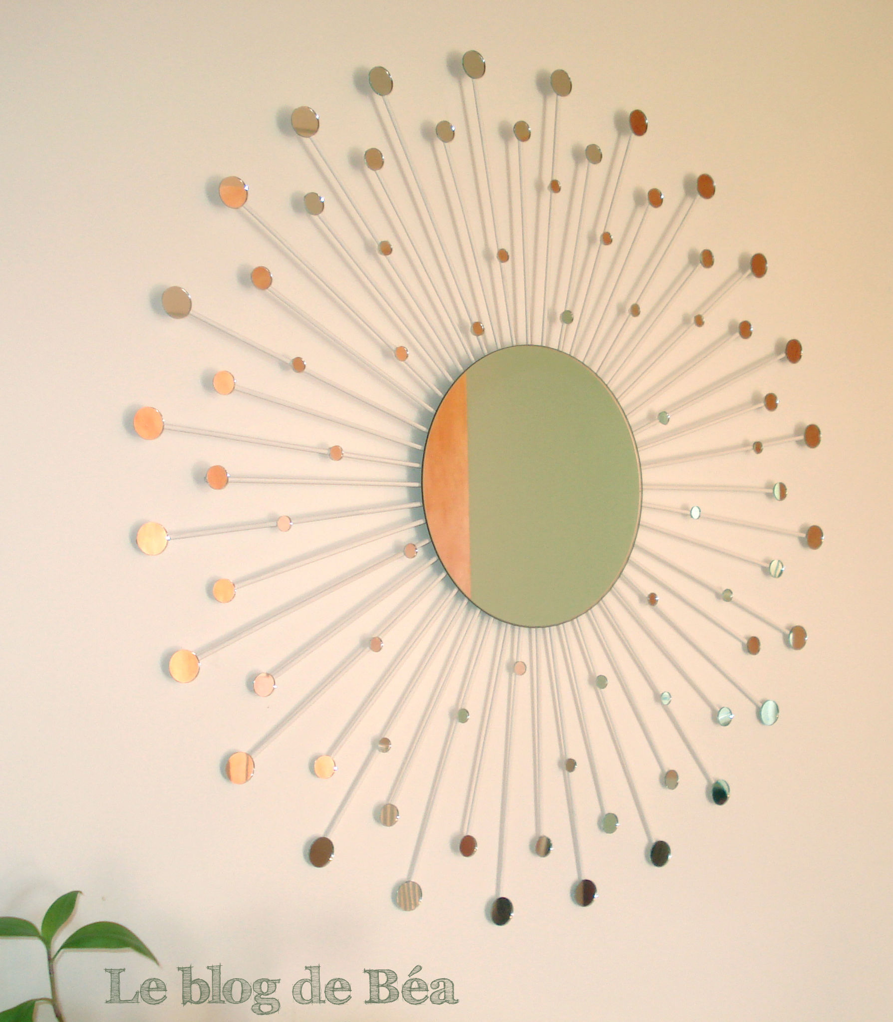 Lit Simple Blanc Diy Miroir Constellation - Le Blog De Béa