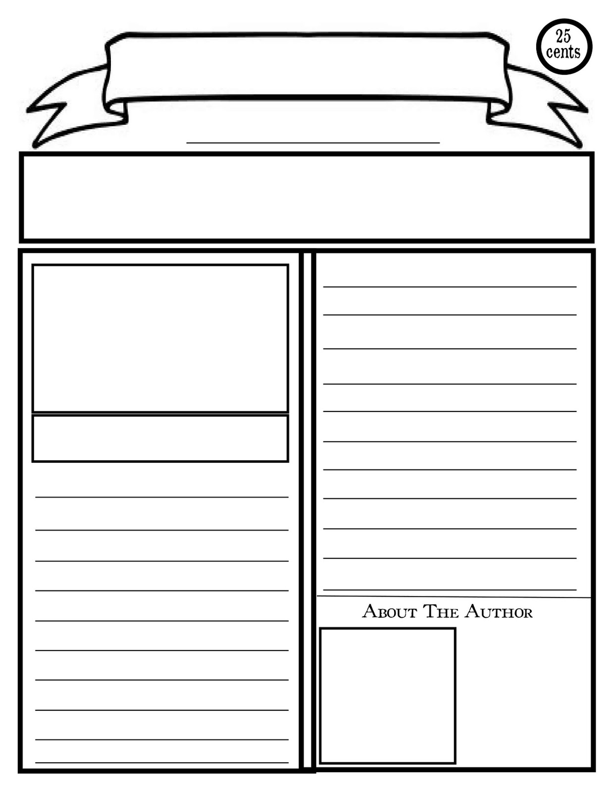 blank newspaper template printable