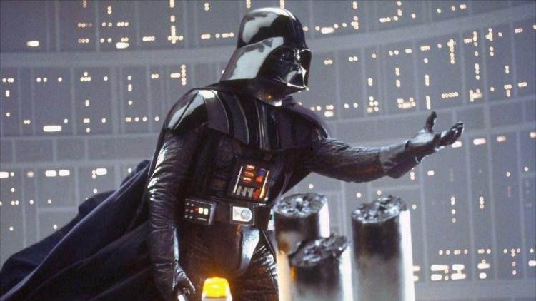 Darth Vader med ett av tidenes filmsjokk i Star Wars episode V: Imperiet slår tilbake (Foto: Lucasfilm).