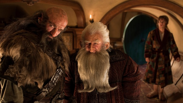 Graham McTavish, Ken Stott og Martin Freeman i Hobbiten: En uventet reise (Foto: Metro-Goldwyn-Mayer Pictures Inc. og New Line Productions, Inc./ Foto: James Fisher).