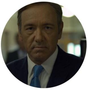 Kevin Spaceys harde blikk. (Foto: Netflix)