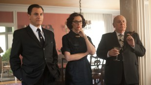 Michael Stuhlbarg, Toni Collette og Anthony Hopkins spiller berømt ektepar i Hitchcock (Foto: 20th Century Fox).