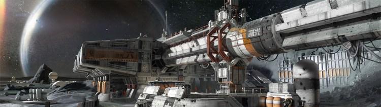 Spillverdenen er vakkert utformet med utallige detaljer. Promobilde fra «Destiny». (Foto: Bungie)