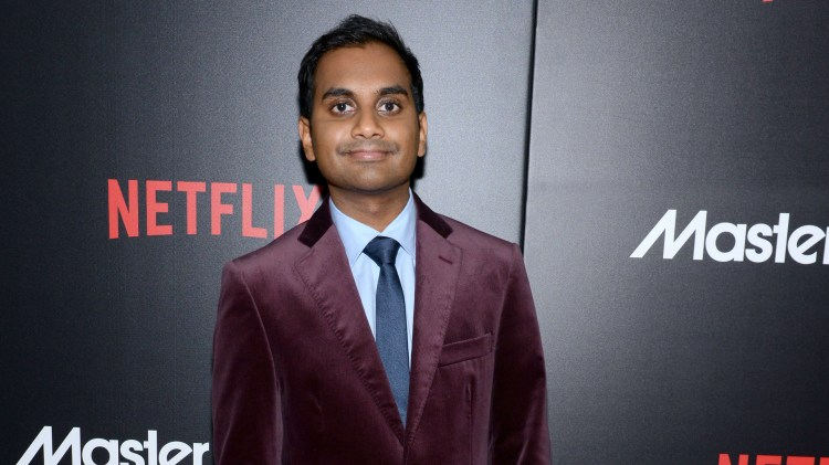"Aziz Ansari på premieren av ""Master of None"" i New York. (Foto: NTBScanpix,  Noam Galai/Getty Images/AFP)"