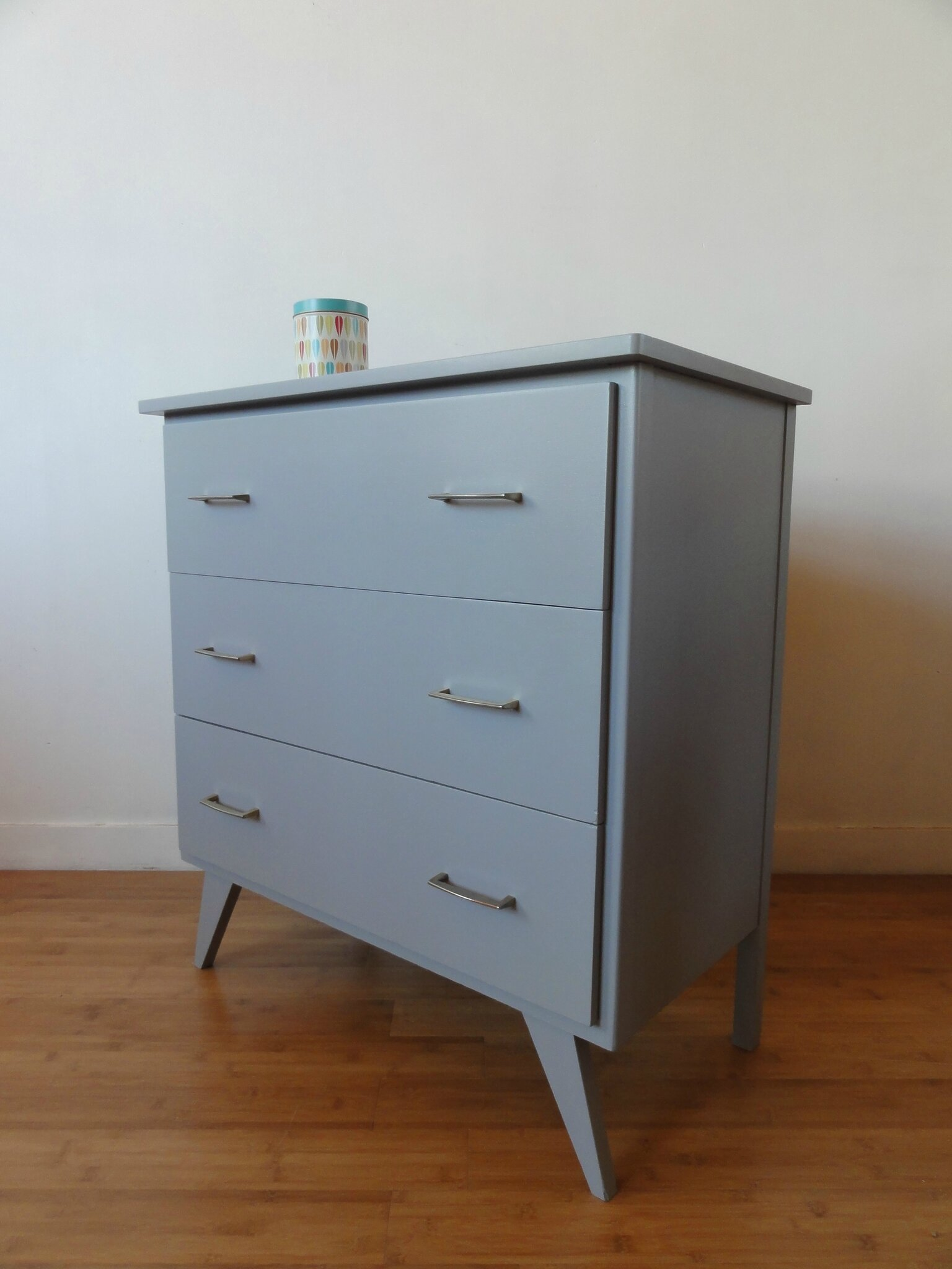 Commode Gris Anthracite Commode Grise Annees 60 Vintage émoi