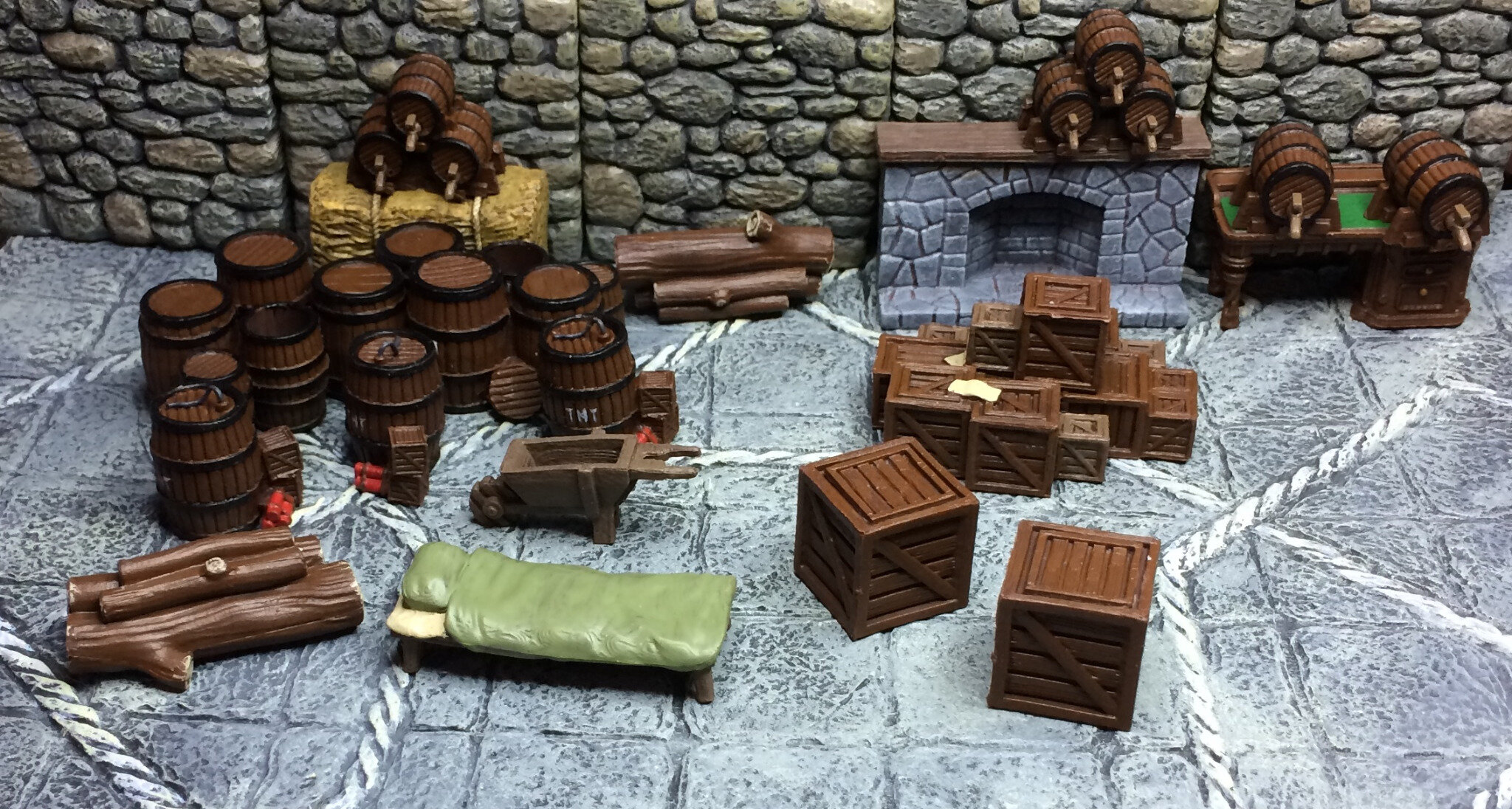 Peindre Decor Warhammer Fast And Furious Peinture Du Terrain Crate Aventures En 25 Mm