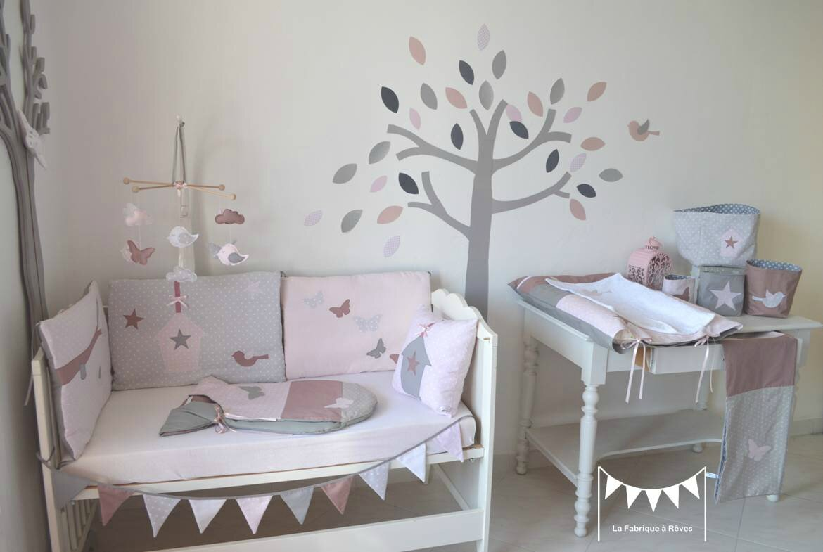 Chambre Bebe Fille Taupe Rose Gamboahinestrosa