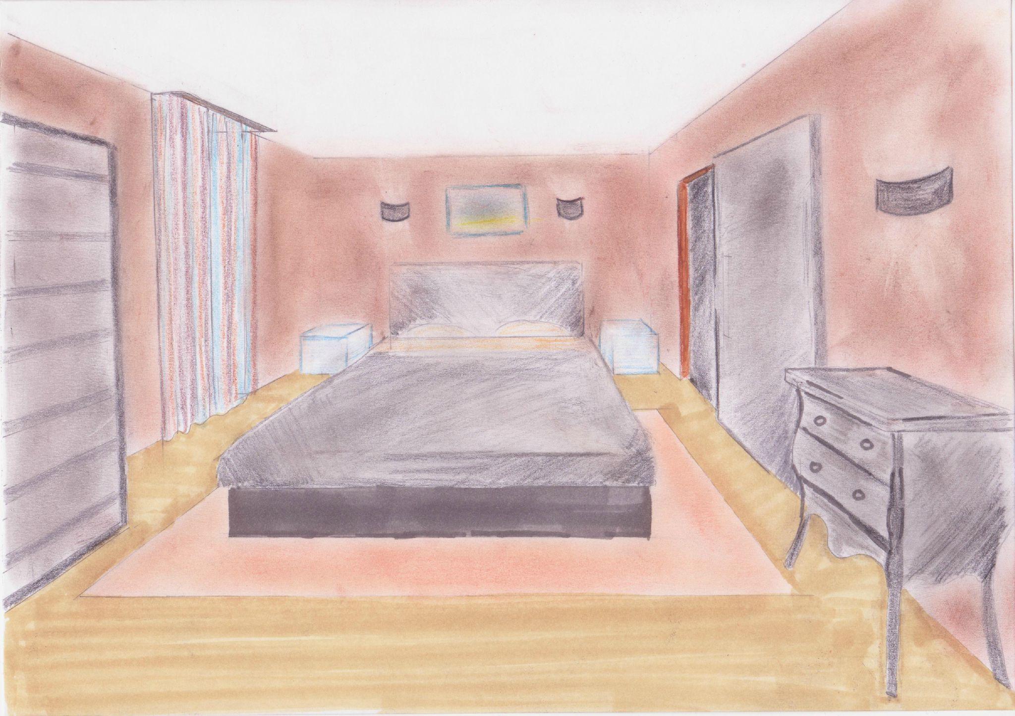 Chambre Moderne En Perspective Comment Dessiner Une