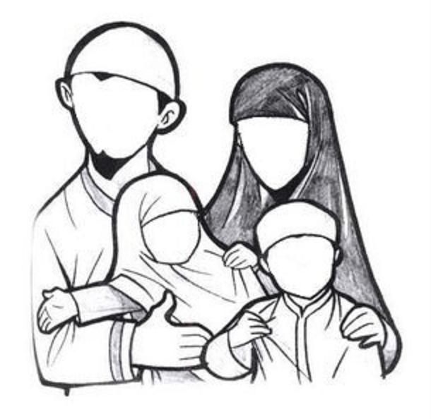 Wallpaper Cute Cartoon Muslimah Coloriage Famille Page 3 B 233 B 233 Muslim L Islam Pour Les