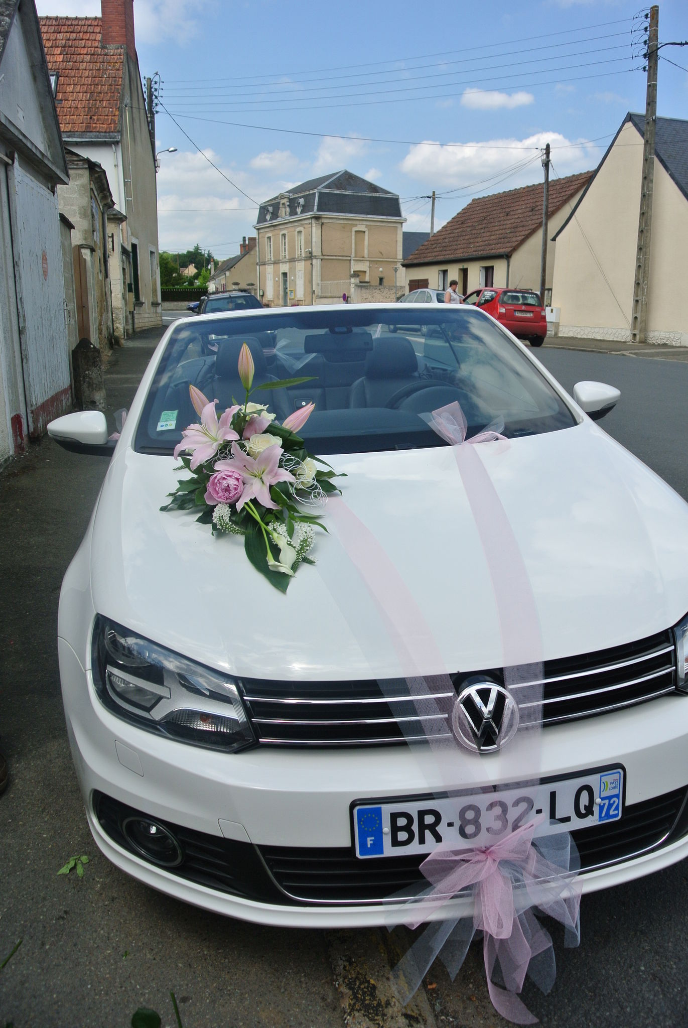 Decoration Mariage Voiture Tulle Decoration Voiture Mariage Rose Pale