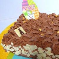 Moelleux chocolat blanc et son glaçage chocolat noir/lait pour Pâques