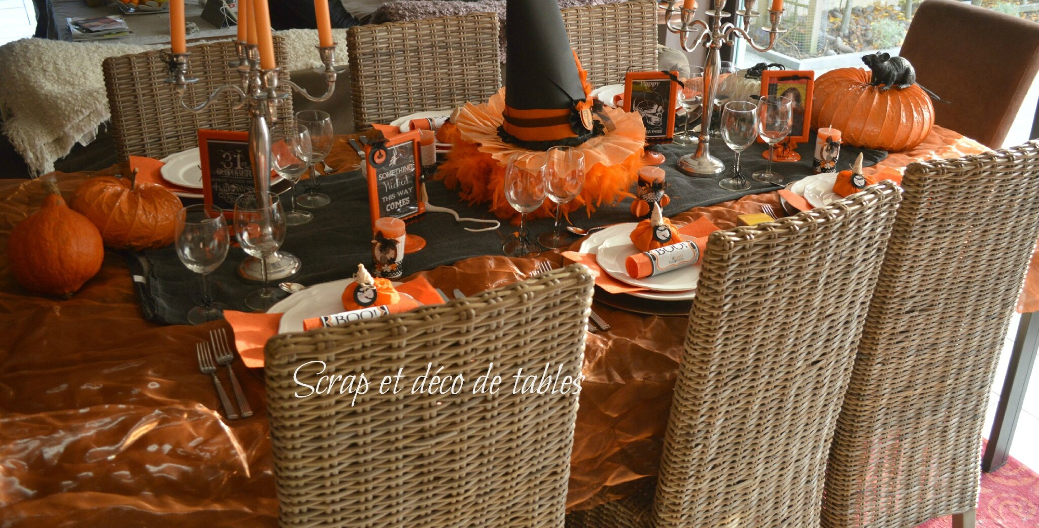 Decoration De Table Pour Halloween Deco De Tables Halloween 2013 Scrap Et Déco De Tables