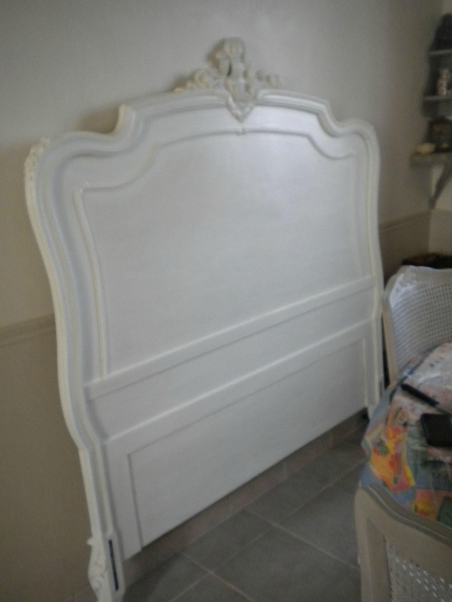 Tete De Lit Romantique Blanc