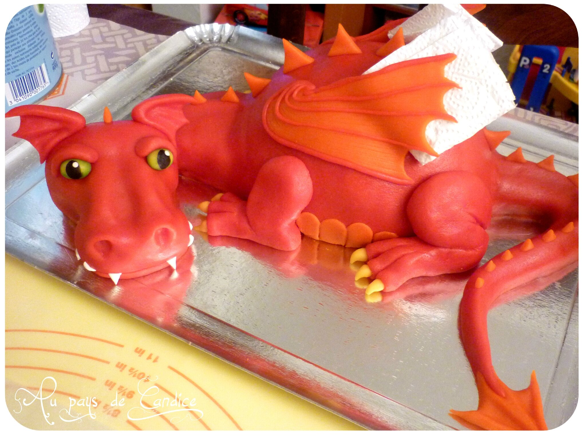 Decoration Gateau Pate Amande Deco Gateau Dragon
