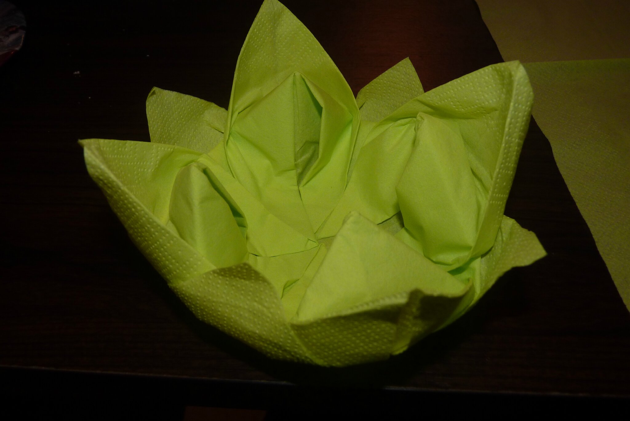 Pliage De Serviette En Lotus Tutoriel Pliage De Serviette Fleur De Lotus Nénuphar