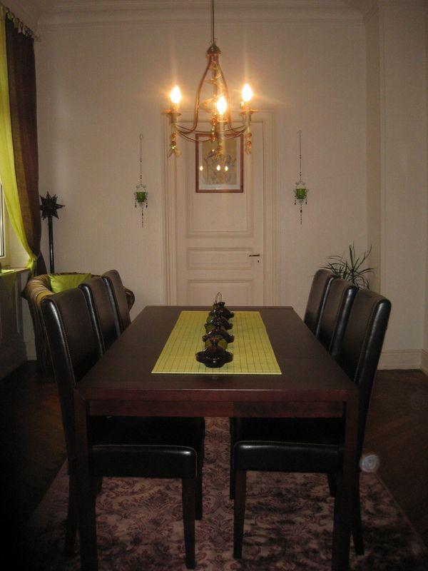 Ma salle à manger brun et vert anis - Photo de Ma déco pour le swap