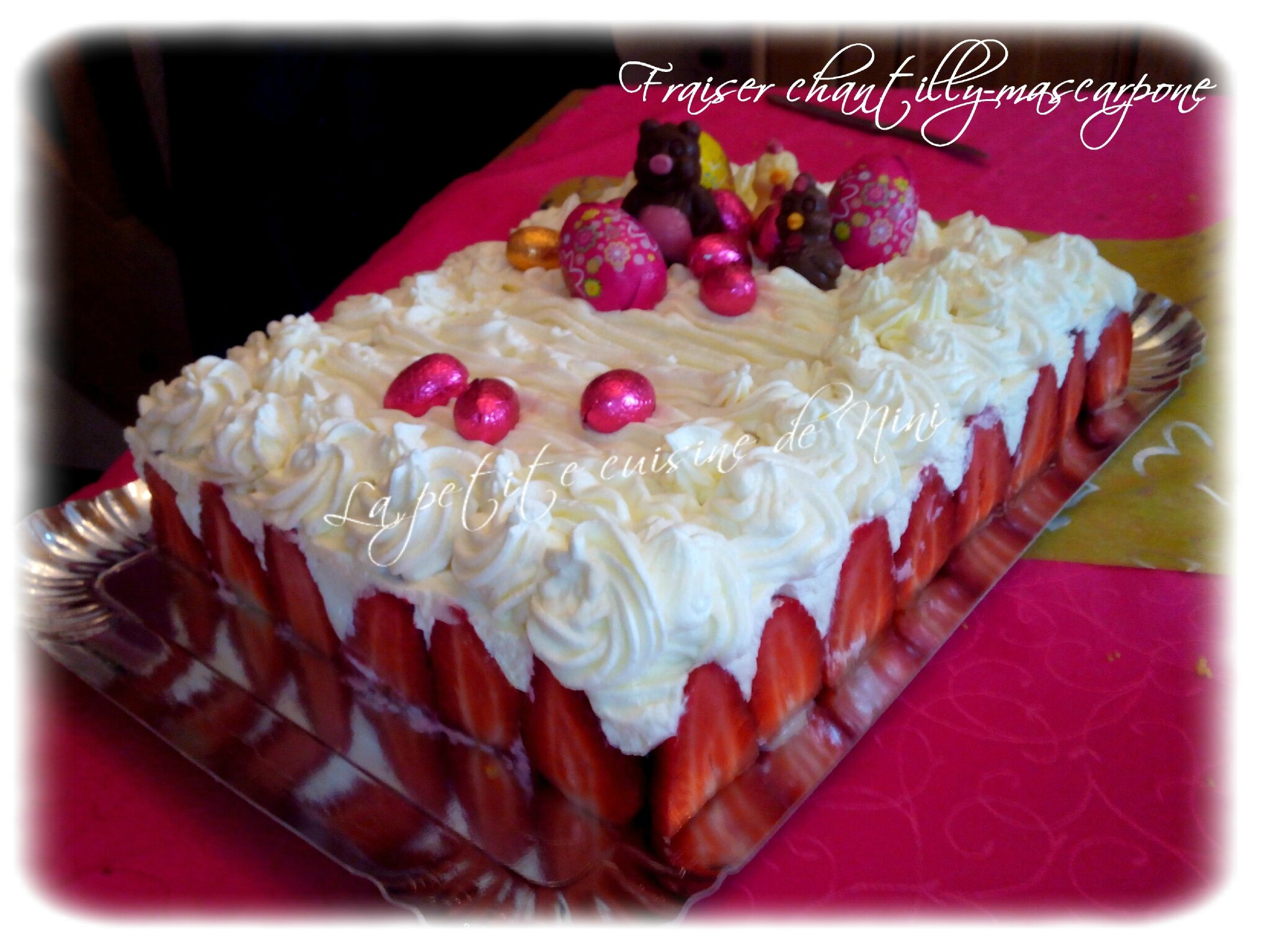 Creme Chantilly Decoration Gateau Fraisier Chantilly Mascarpone Rapide Et Facile La Petite