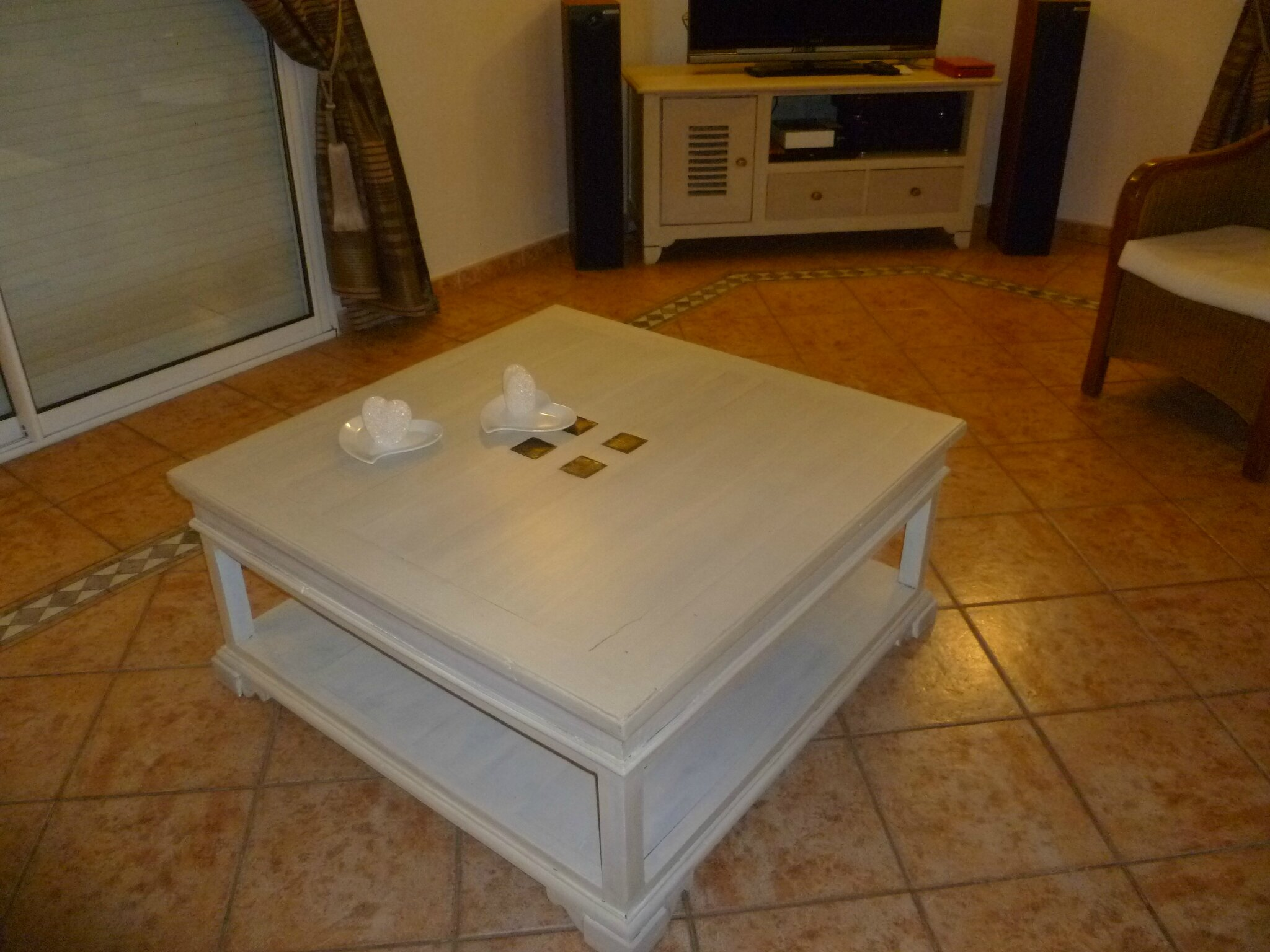 Relooker Une Table De Salon Table Basse Relookée Table Salon Relooking Meuble En