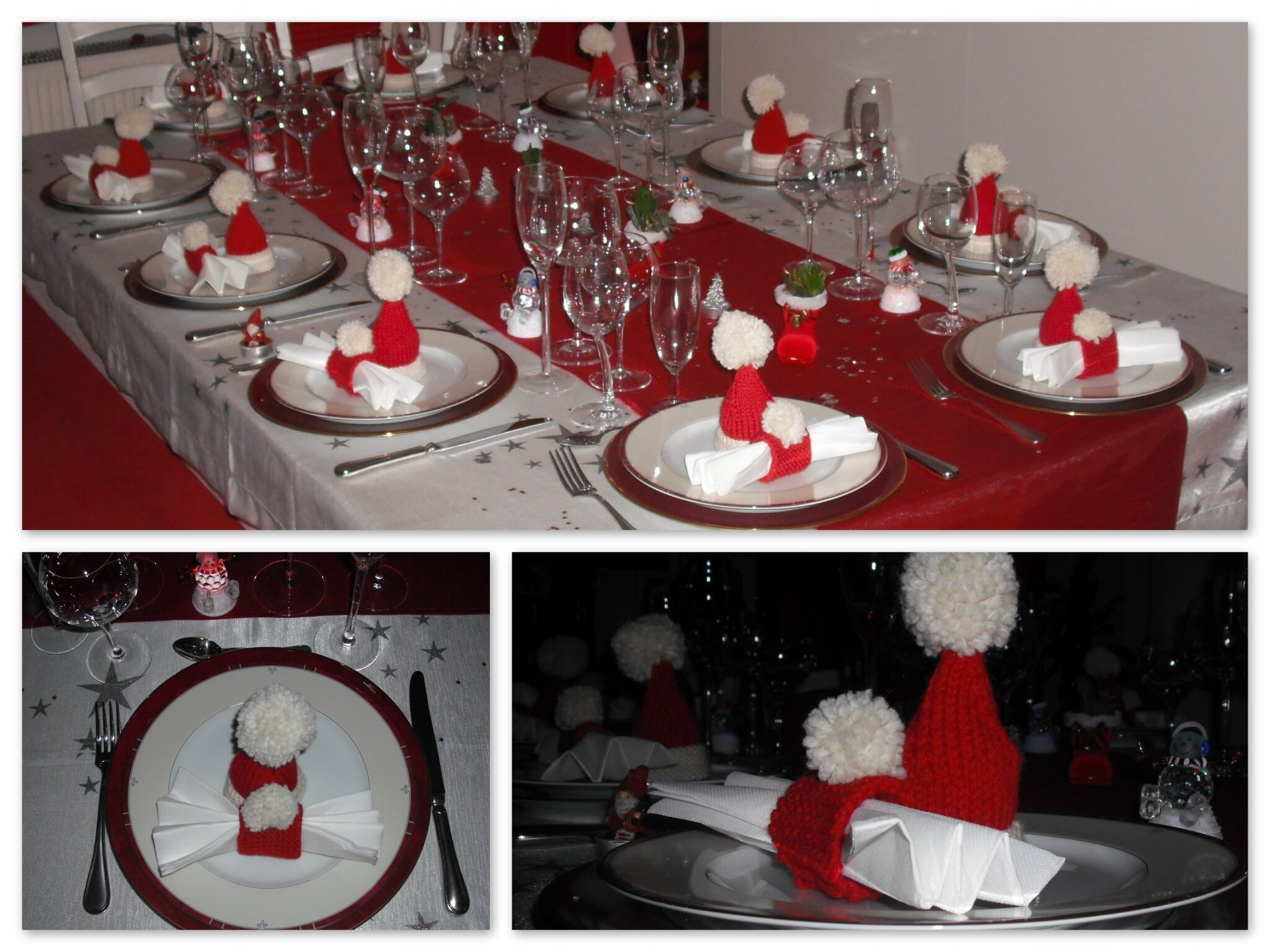 Modele De Decoration De Table De Noel Ouvrages De Saison Le Blog De Christhalinette