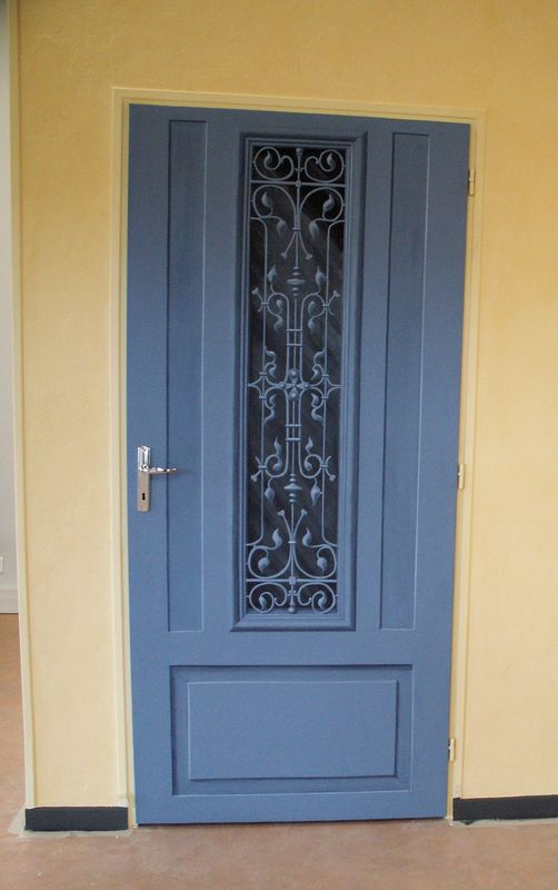 Porte d\u0027entrée, acrylique sur toile , collée sur porte - Photo de - Oeil De Porte D Entree