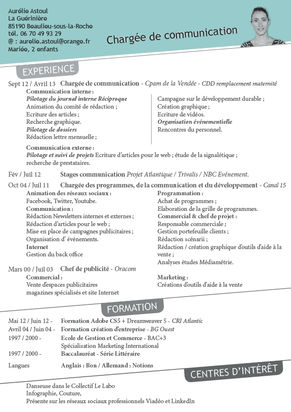 cv communication evenementielle
