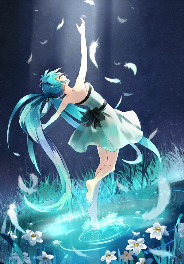 Anime Moon Wallpaper 深海少女 360百科